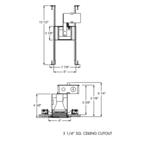 TC19 3 Inch Square Non-IC Housing And Trim -  /
