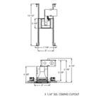 TC19 3 Inch Square Non-IC Housing And Trim -  /