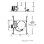TC45 6 Inch MR16 Low Voltage Non-IC Housing -  /