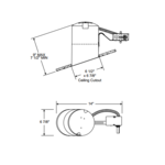 TC926R Slope Ceiling Remodel Non-IC Housing -  /