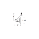 TL117 Trac 12 MR16 Flyback Track Fixture 12V  -  /