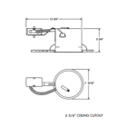IC21R 6 Inch IC Remodel Shallow Housing -  /