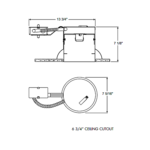 IC22R 6 Inch Economy IC Remodel Housing -  /