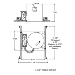 IC23 6 Inch Economy New Construction IC Housing 120V -  /