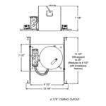 IC23 6 Inch Economy New Construction IC Housing 120V -  /