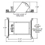 IC928 6 Inch Slope Ceiling IC New Construction Housing -  /