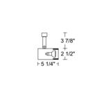 T311 R16 Flat Back Cylinder Baffle Track Fixture 120V -  /
