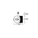 T328 PAR38 Round Back Cylinder Baffle Track Fixture 120V -  /
