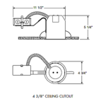 TC1R 4 Inch Remodel Non-IC Housing -  /
