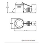 TC44R 4 Inch MR16 Remodel Non-IC Housing -  /