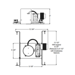 TC47 4 Inch MR16 Low Voltage Non-IC Housing -  /