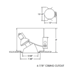 TC963 Aculux 5 In PAR Non-IC Housing -  /