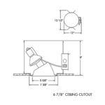 TC963 Aculux 5 In PAR Non-IC Housing -  /