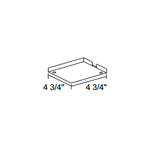 Trac 12 TL21 Outlet Box/T-Bar Ceiling Canopy -  /