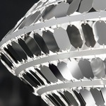 Kika Pendant - White / Stainless Steel /