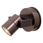 KO 51 Adjustable Outdoor Wall Light - Bronze / Clear
