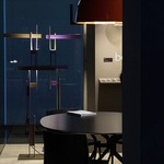 Las Floor Lamp by Oluce Srl