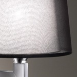 Lexa Vertical Backplate Wall Lamp - Satin Nickel / Cream Ribbon