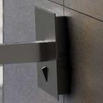 Lexa Vertical Backplate Wall Lamp - Satin Nickel / Cream Ribbon