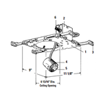 Lytecaster 1102P1 6.75 In Non-IC Frame-In Kit 120V -  /