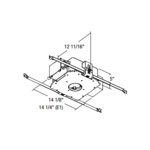Evolution C3LV 3 Inch Non-IC Magnetic Frame-In Kit 120/277V -  /