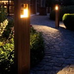 Log Outdoor Path Light by Lightology Collection