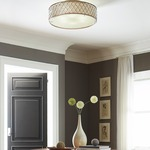 Lucia Semi Flush Ceiling Light by Feiss