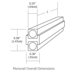 Monorail Straight Rail -  /