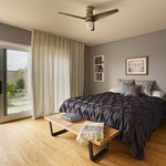 Velo Hugger Ceiling Fan with Light by Modern Fan Co.