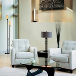 Metra Glass Floor Lamp by Hubbardton Forge