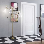 Mitte 3-Light Floor Lamp - Gold / Clear