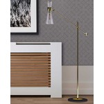 Mitte 1-Light Floor Lamp - Gold / Clear