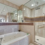 242 Series 6 Inch Frosted/Clear Lensed Shower Trim -  /