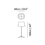 Double Shade Floor Lamp -  /