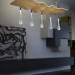 Ripple Linear Pendant by Masiero
