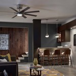 Empire Ceiling Fan with Light by Monte Carlo
