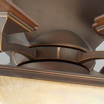 Town Ceiling Fan with Light - Roman Bronze / Amber Pearl