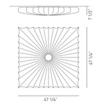 Muse Square Wall / Ceiling Mount -  /