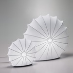 Muse Table Lamp - White / White