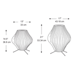 Pear Tripod Table Lamp -  /