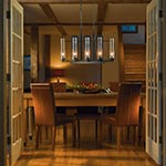 New Town 8-light Chandelier by Hubbardton Forge