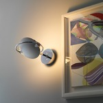 Nobi Small Wall Lamp - Chrome / White