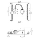 NW3000LM 3.5 IN 42-50W Halogen Long Non-IC New Construction -  /