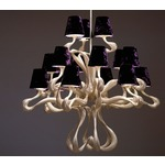 ODE 15 Light Chandelier - Silver / Grape