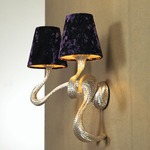 ODE 2 Light Wall Light - Silver / Grape