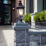 Homestead 1 Light Post Mount by Feiss