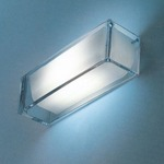 On The Rocks Wall Sconce - Clear / White