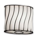 Modular Oval Wire Glass Wall Sconce - Dark Bronze / Swirl with Opal