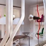 Parentesi Ceiling To Floor Lamp  - Red /