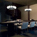 Pearls LED Pendant by Vistosi